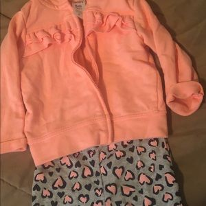 Carters hoodie and tights